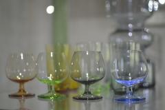 kulørt glas